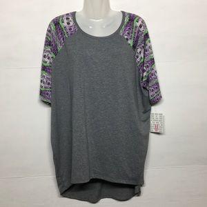 Lularoe Irma Skull Print Shirt